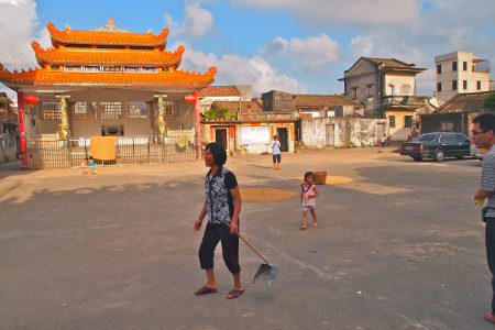 Stadtplatz in Wukan, Guangdong, China.