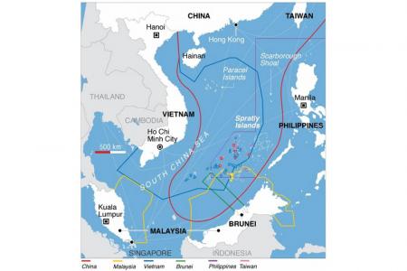Karte des umstrittenen Gebiets im südchinesischen Meer (von der Redaktion bearbeitet).