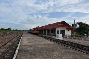 Der Bahnhof von Ban Thanaleng in der Nähe von Vientiane, der einzige Bahnhof in Laos