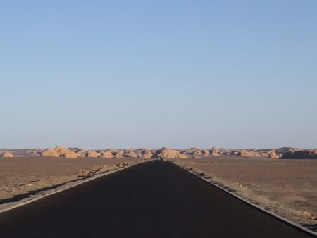 Photo: Lukas Knoflach. Facing West. Dunhuang Yardang National Park in the Northwest of Gansu province.