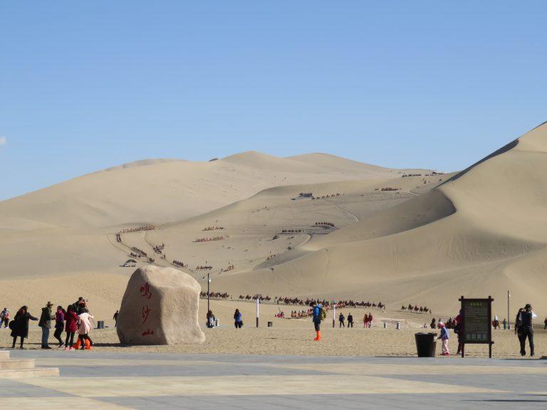 Photo: Lukas Knoflach. Ming Sha Shan - the Singing Sand Dunes. Dunhuang, Gansu province.