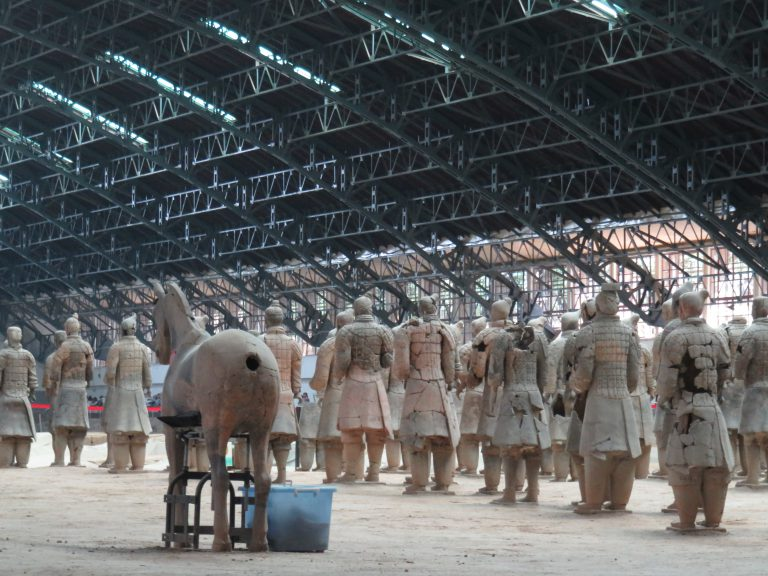 Photo: Lukas Knoflach. An unusual perspective of the Terracotta Army in Xi'an.